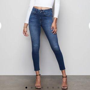 Good American Good Waist High Rise Crop Jeans